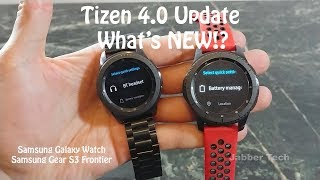 Samsung Tizen 4.0 Update on the Galaxy Watch : What