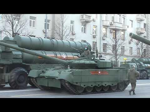 Бронетехника Парада Победы в центре Москвы. Putin's troops in the center of Moscow!