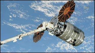 "Cygnus NG-10 ""SS John Young"" Rendezvous, Grapple, & Berthing (time lapse)"