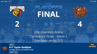 Owen Sound Attack vs. Erie Otters - Game 5 - OHL Conference Finals