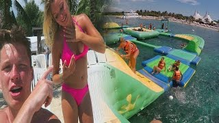ULTIMATE FLOATING WATER PARK IN MEXICO!