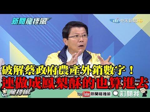 【精彩】破解蔡政府農產外銷數字! 謝龍介:連做成鳳梨酥的也算進去