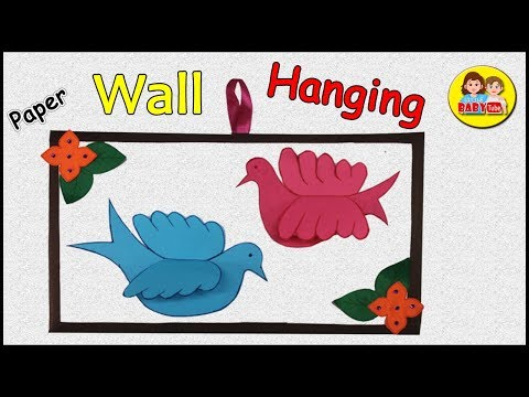 How to make wall hanging for room decor, Paper Crafts , DIY