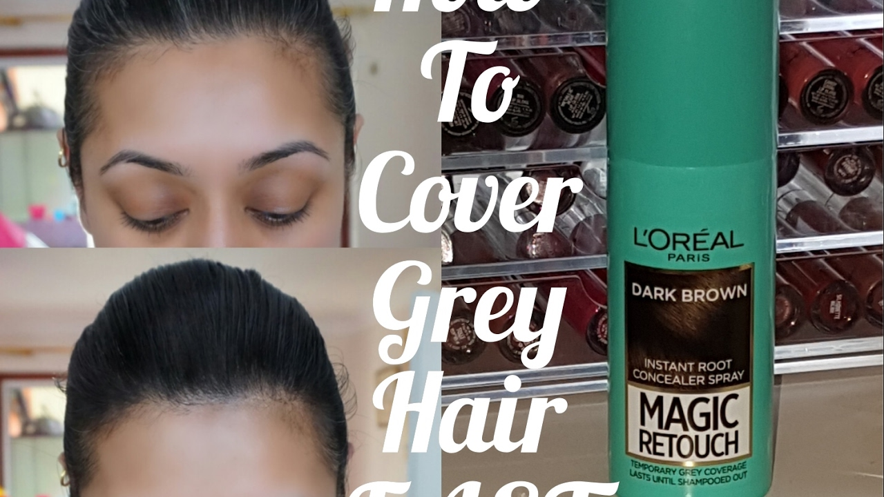How To Cover Grey Hair FAST! L\'Oreal Magic Retouch with Demo