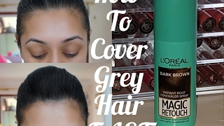 How To Cover Grey Hair FAST! L'Oreal Magic Retouch with Demo