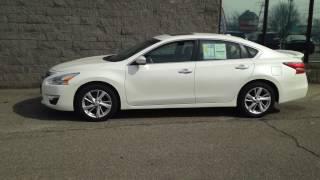 2014 Nissan Altima 2.5 SL  White Sedan (1N4AL3AP8EN230992) 4-Cyl! ONE OWNER!