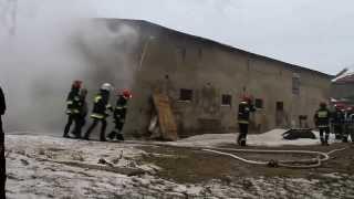 Pożar obory w Tuszewie