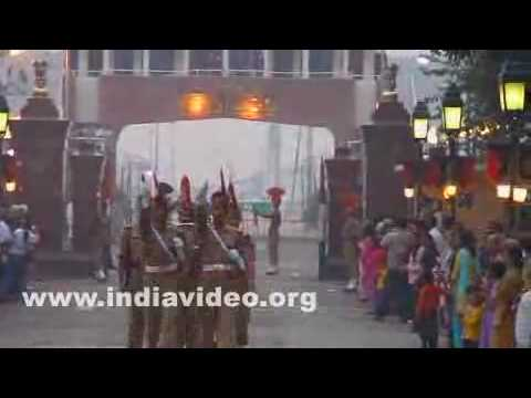 The Lowering of the flags ceremony at Wagah border
