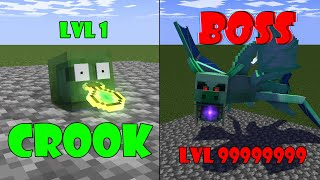 Monster School: CROOK vs BOSS CHALLENGE- Minecraft Animation