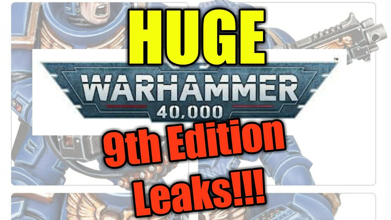 HUGE Warhammer 9th Edition Leaks REVEALED!!! ALL Space Marines Points and NEW MODELS!!!
