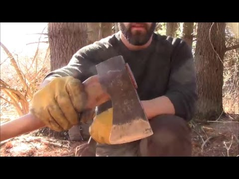 Hardwoodsman Challenge - Bow Drill Friction Fire with Axe & Shoelace