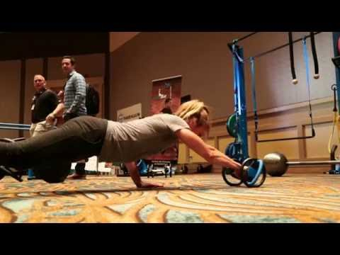 MoveStrong DynaBell functional training dumbbell at 2016 Fitness Summit