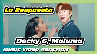 becky g maluma la respuesta official video reaction