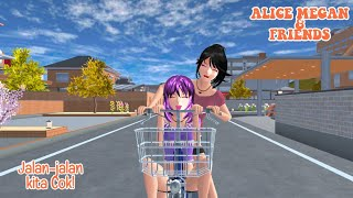 ALICE MEGAN & FRIENDS [JALAN-JALAN] || SAKURA SCHOOL SIMULATOR