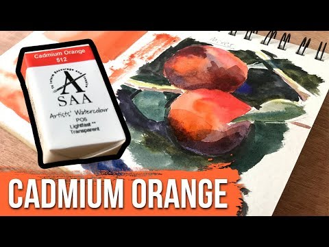 Cadmium Orange - SAA Watercolors | The Paint Show 49