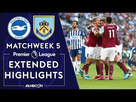 Brighton v. Burnley   PREMIER LEAGUE HIGHLIGHTS   9/14/19   NBC Sports