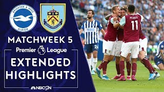 Brighton v. Burnley | PREMIER LEAGUE HIGHLIGHTS | 9/14/19 | NBC Sports