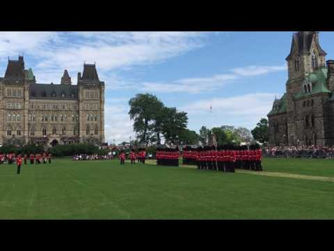 The Changing of Guards Ceremony - Ottawa 2017