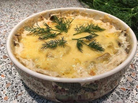 Жюльен с грибами – классический рецепт
