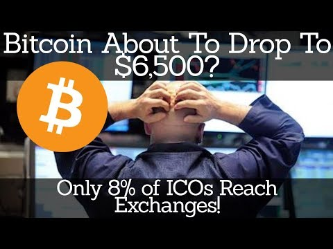 Crypto News | Bitcoin About To Drop To $6,500? Only 8% of ICOs Reach Exchanges!