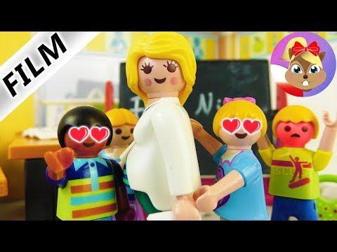 Playmobil Film polski - NOWA CIĘŻARNA MATEMATYCZKA HANI! CZY POLUBI SWOJĄ NOWĄ KLASĘ? Wróblewscy