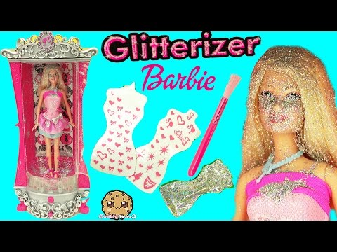 Glitterizer Machine Playset , Barbie Glitter Fashion Style Makeover - Cookieswirlc Unboxing Video