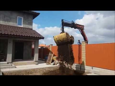 Кран- Манипулятор с грейфером в Одессе 097-851-64-91 - YouTube