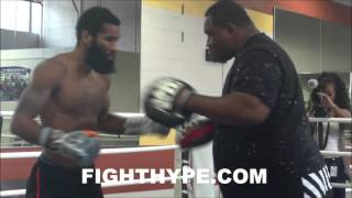 LAMONT PETERSON SHREDDED AND HITTING HARD; WORKS THE MITTS AND BODY SHIELD AHEAD OF FELIX DIAZ CLASH