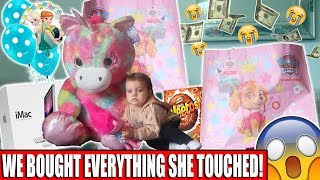 WE BOUGHT EVERYTHING OUR TODDLER TOUCHED!