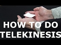 How to do Telekinesis for beginners - Learn a Magic Trick