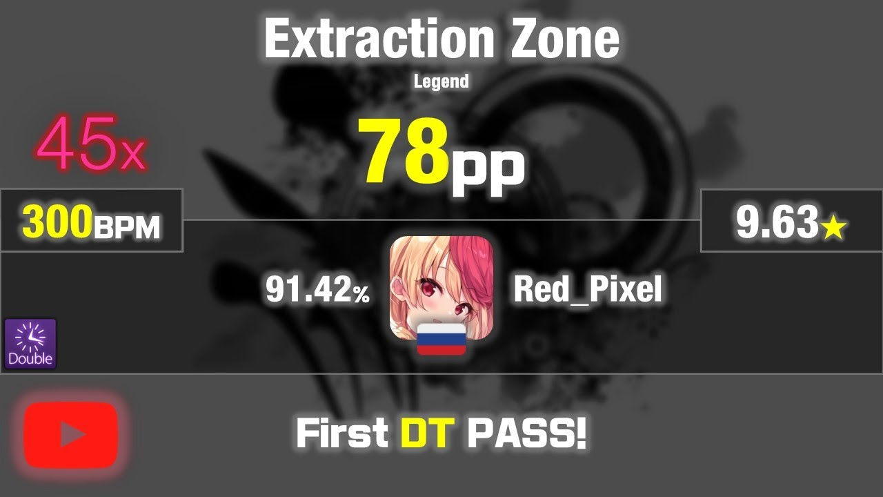 9 63 Red Pixel Dragonforce Extraction Zone Legend Dt 91 42 45 Pass First Dt Pass Youtube