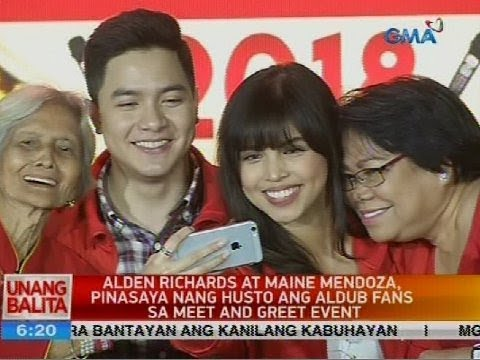 Alden Richards At Maine Mendoza, Pinasaya Nang Husto Ang AlDub Fans Sa Meet And Greet Event
