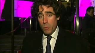 4 Feb 1013 - Evening Standard British Film awards for 2012 live interiew with Stephen Mangan