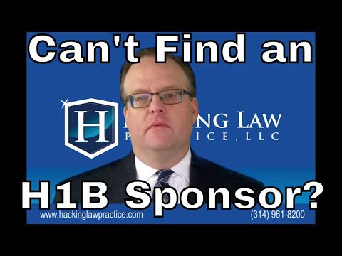 Why It is Hard to Find an H1b Sponsor?