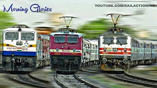 Colorful Snakes : Morning Trains Making Their Way In And Out Of Jabalpur City | Indian Railways
