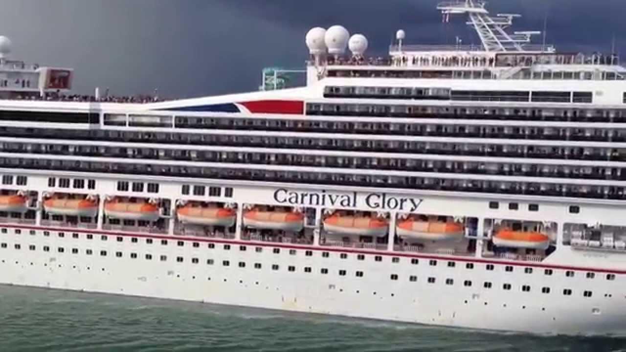 Beautiful Carnival Glory Leaves Miami Cruise Port For Caribbean - Miami cruise ship terminal