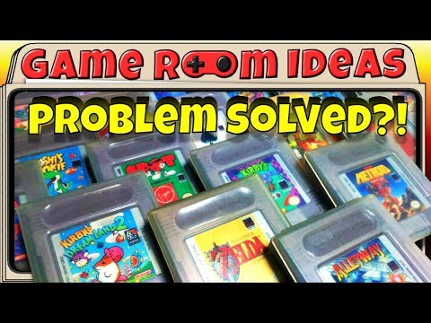 Solving Nintendo Game Boy Cartridge Storage / Display (+ Many Others) - Game Room Ideas