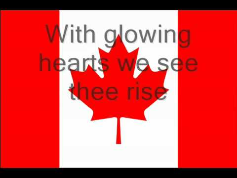 Canadian National Anthem lyrics Oh Canada