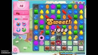 Candy Crush Level 744 Audio Talkthrough, 1 Star 0 Boosters