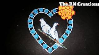Draw a love birds with origami flowers The BN Creations