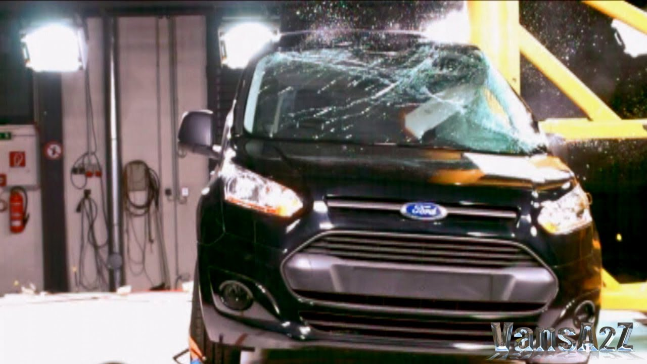 New Ford Transit Connect 2013 Euro Ncap 5 Star Crash Test Youtube