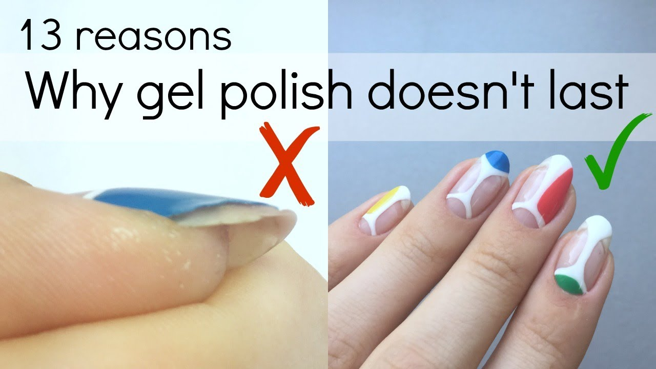 How to make your gel polish manicure last longer | No more peeling ...