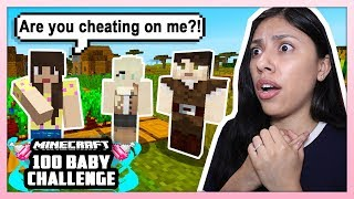 MY HUSBAND IS CHEATING ON ME?! - Minecraft: 100 Baby Challenge - EP 4