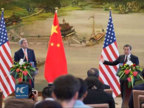 Kerry visits China, Chinese FM: China's will to safeguard sovereignty 'unshakable'