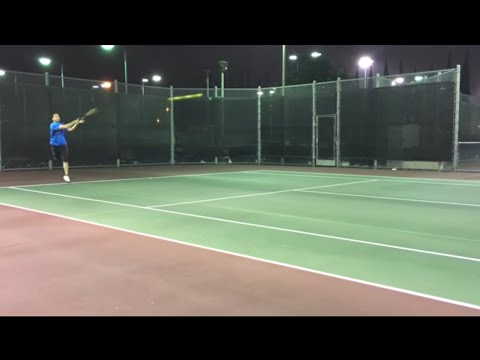 4.5-5.0 Tennis match at Bill Barber with creepy girl commentary