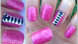 PINK LEOPARD ZIPPER NAILS-Britney Spears inspired nails!