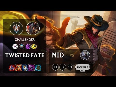 Twisted Fate Mid vs Diana - KR Challenger Patch 10.4