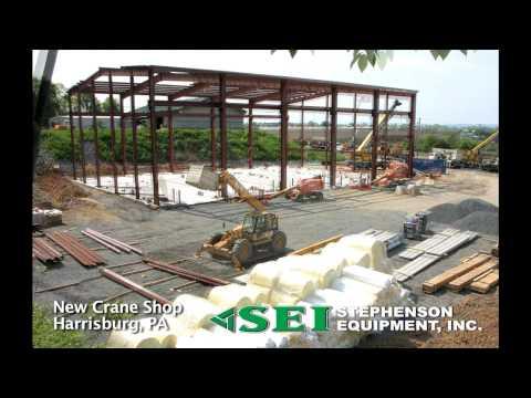 Stephenson Equipment's New Crane Shop Harrisburg PA
