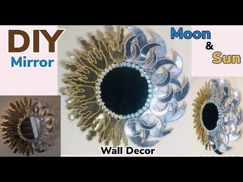 Dollar Tree DIY Moon & Sun LED Mirror Wall Decor 2019