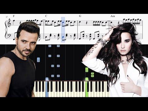 Luis Fonsi & Demi Lovato - Échame La Culpa - Piano Tutorial + SHEETS